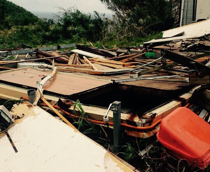 消防団 黒島へ。離島の災害復興。