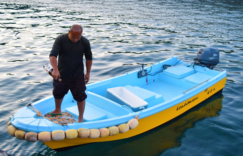 「健栄丸」進水!離島で船を再生。
