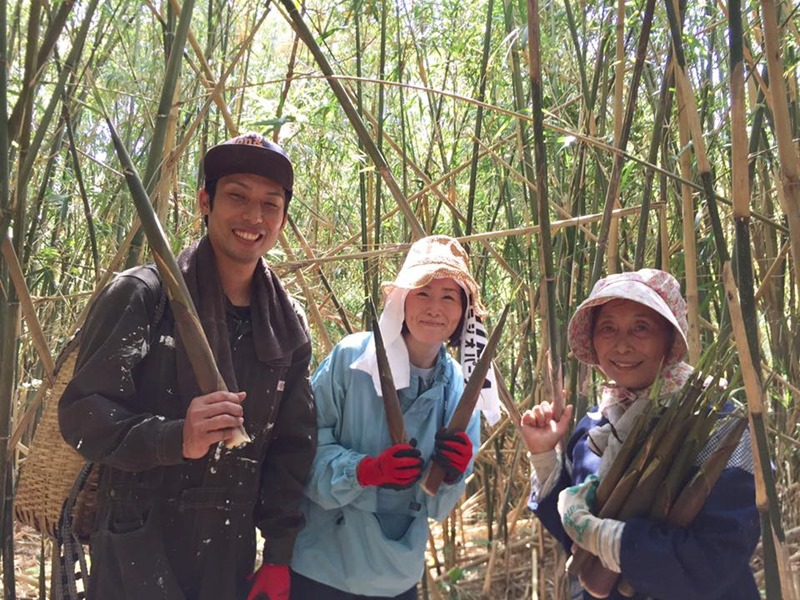 東京から竹島へ。大名筍採りの旅!