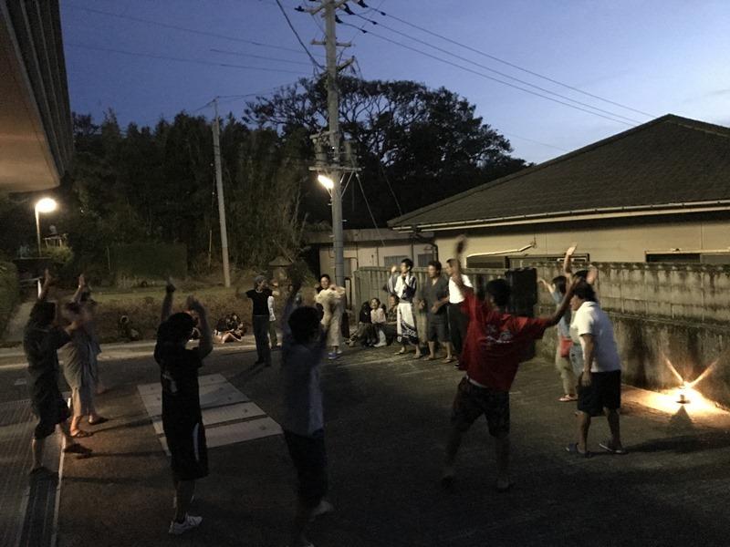 けっこうハード!竹島の盆踊り。離島のお盆。