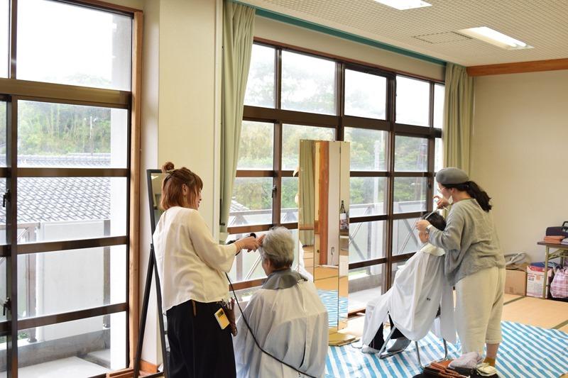 竹島に2人の美容師さんがやってきた!離島で美容室。
