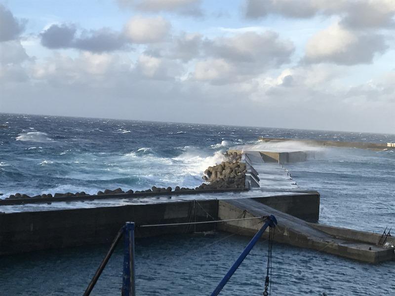 台風18号、三島村の被害報告。離島の台風。