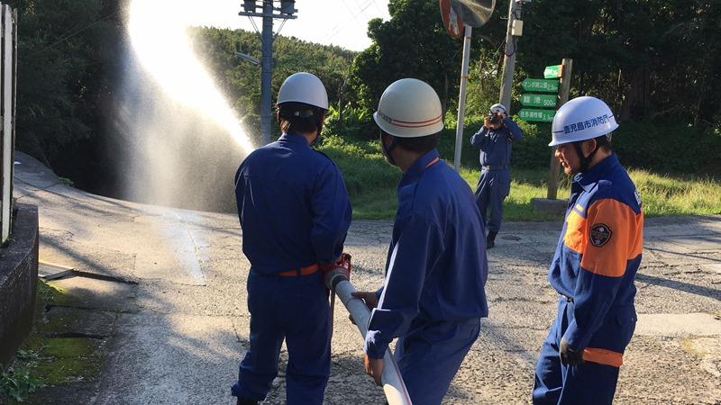 10年に1度の機会!?離島の消防訓練。