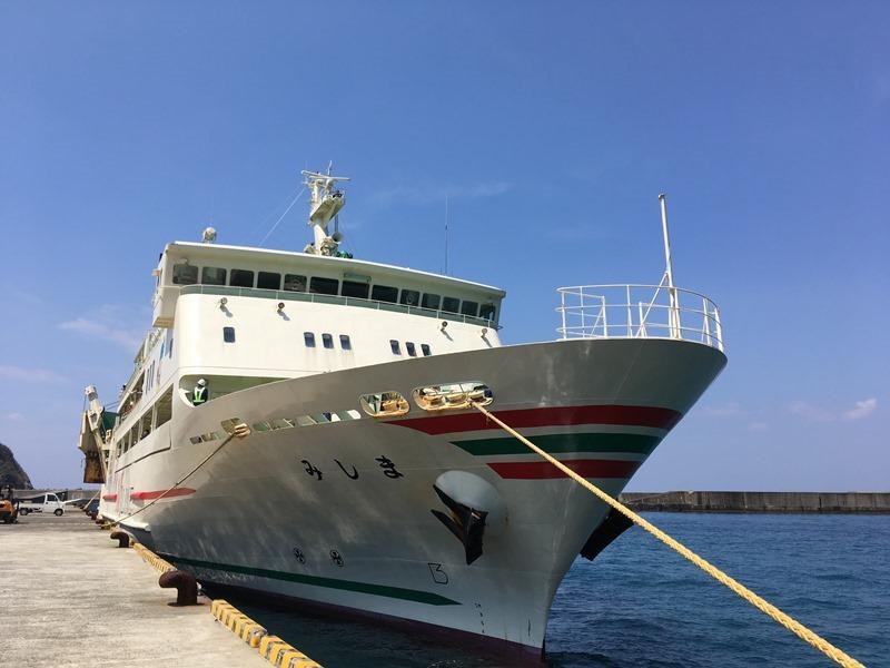 1週間ぶりの定期船がやってきた!離島の交通。