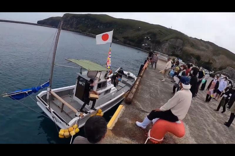 共同購入した漁船、「来海丸」の船祝い!
